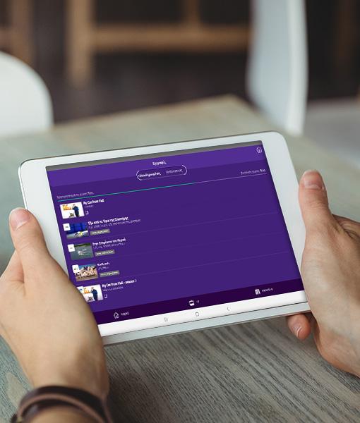 cablenet tv go app on tablet